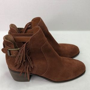 Lucky brand size 9.5 rusty color suede booties